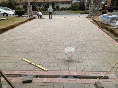 Installing Paver Driveway