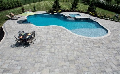 Gray Stone Pool Patio