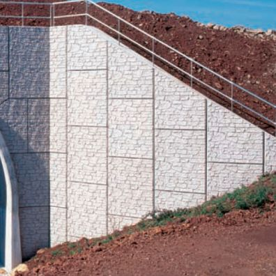 Commerical Concrete Retaining Wall
