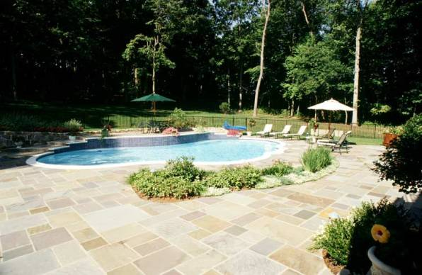 Flagstone Pool Deck Patio Contractors McLean, Va