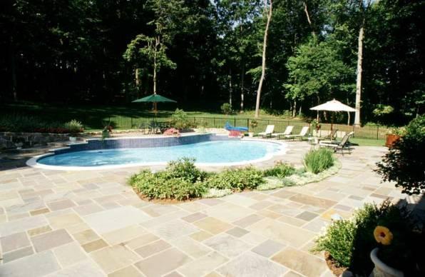 Flagstone Pool Deck Patio Contractors McLean, Va