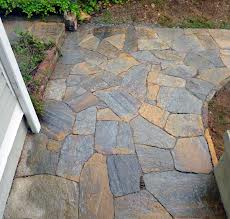Nice Flagstone Walkway Around the Home