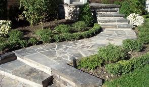 Beautiful Stone Walkway and Steps to Front Door