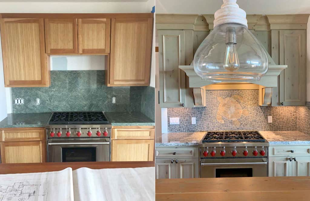 Kitchen remodel, before and after picking the right contractor