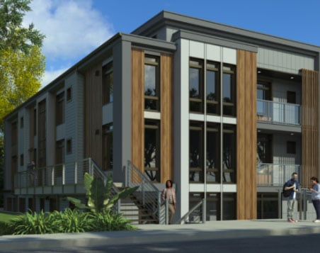 Multi-Family 9-plex under construction by Crescent Custom Homes
