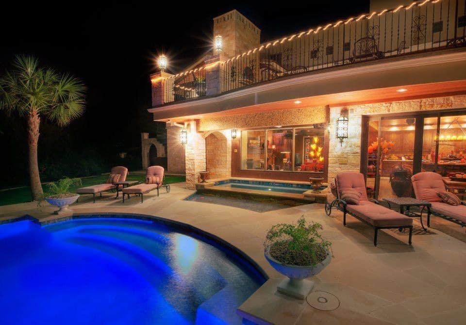 pool at night image