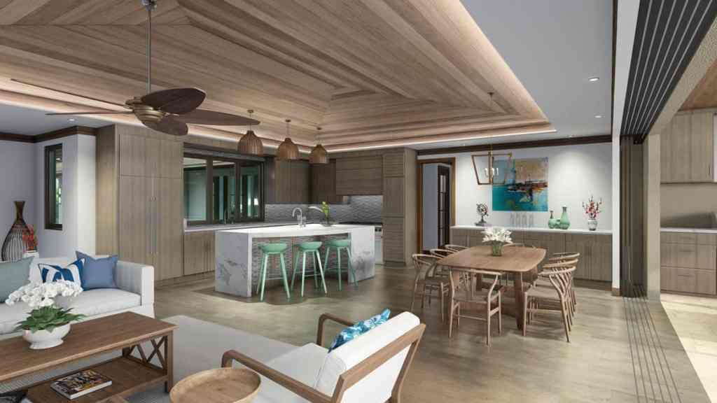 Lanikeha 607 Anapuni Loop kitchen and great room