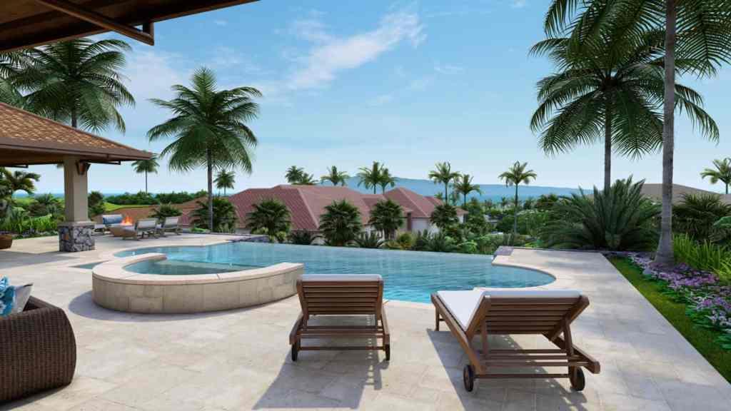 607 Anapuni Loop patio and pool