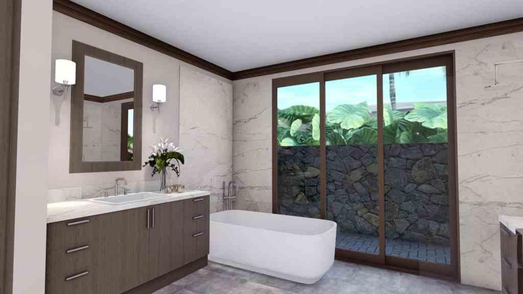 Master bath at 27 Kaulele, Lanikeha neighborhood, Maui