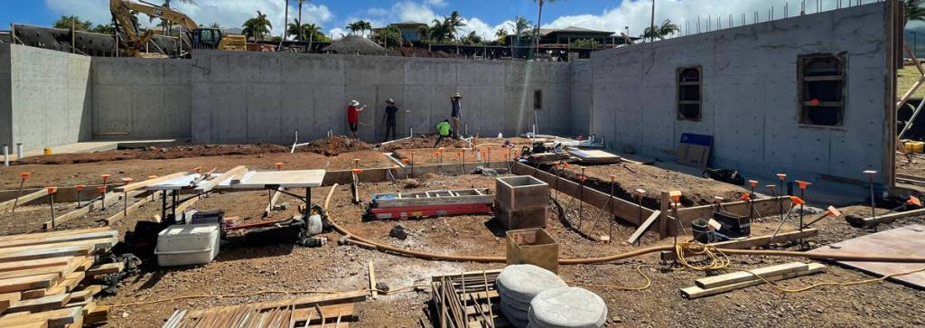 Preparation before pouring a new home's foundation