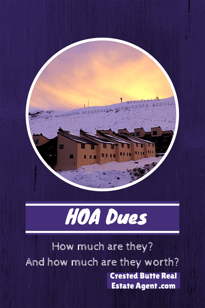 crested butte and gunnison homeowners association dues info