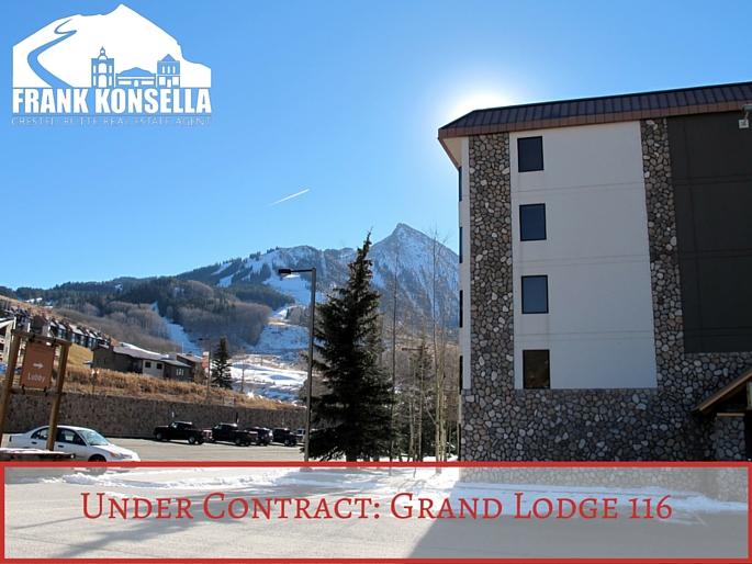 Grand Lodge 116 under contract condo in Crested Butte