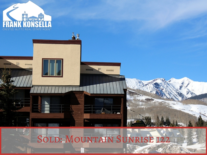 Mountain Sunrise Crested Butte sold