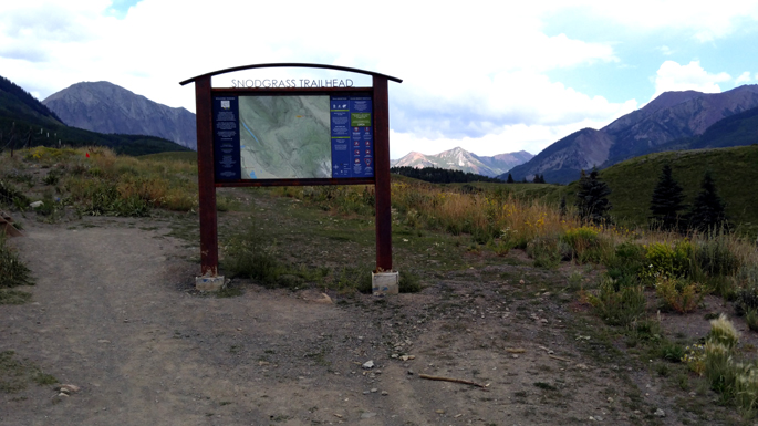Snodgrass Trail Crested Butte CO.  2016 fall closure.