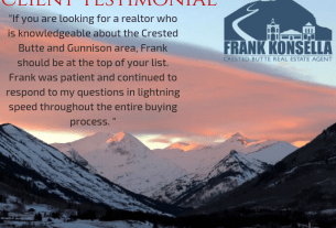 crested butte real estate client testimonial for Frank Konsella