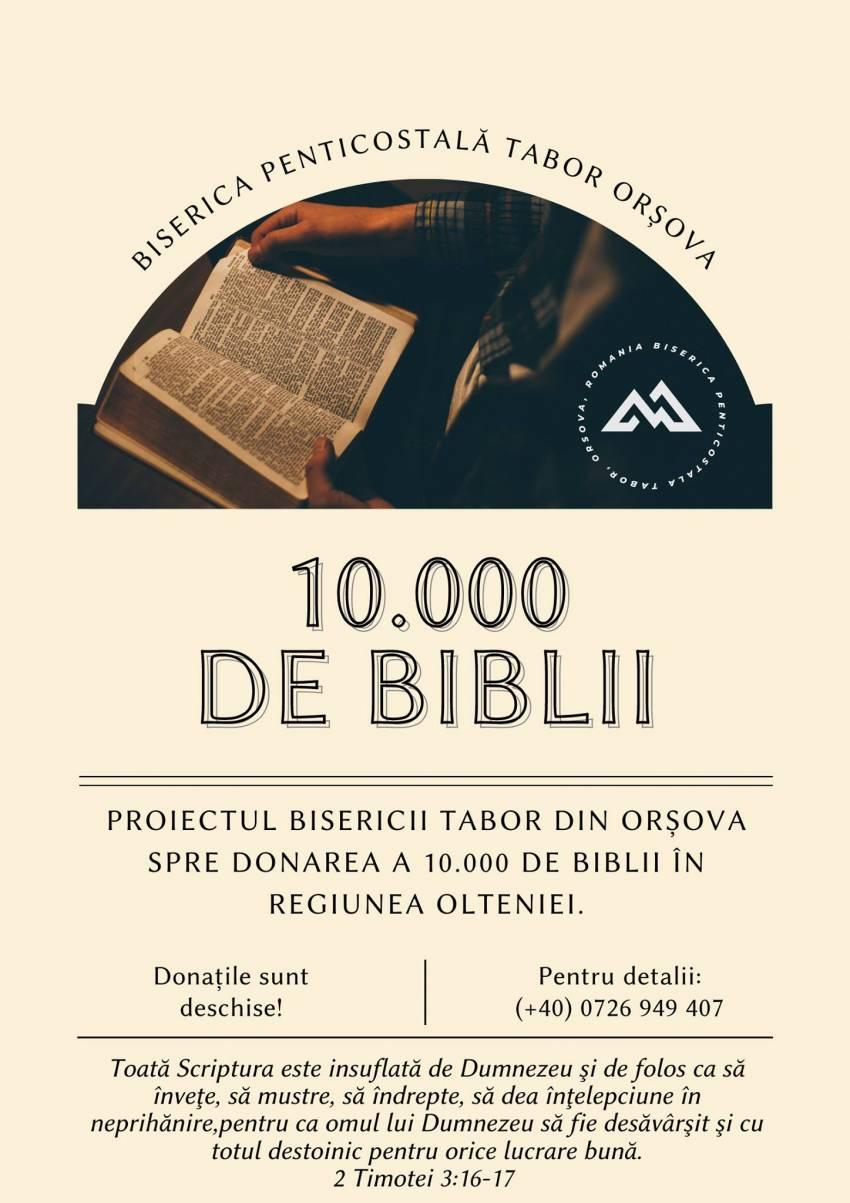 """Biserica Tabor Orșova ◉ Proiectul """"10 000 de Biblii"""""""