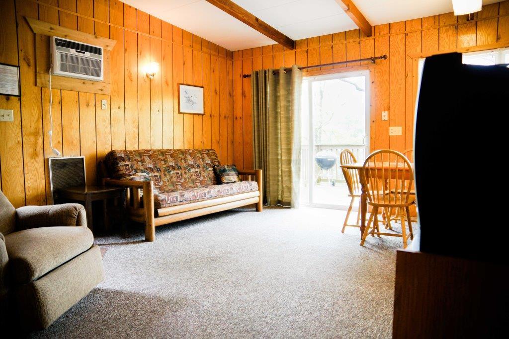 cabin 6 living room crest lodge resort Table Rock Lake