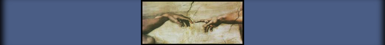 Banner image for the Biblical World View series, Michelangelo's Creation of Adam.