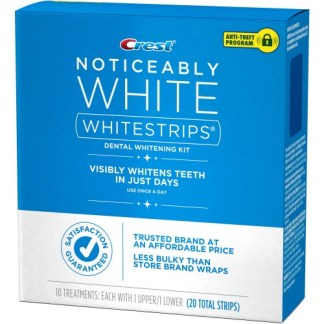 Crest Noticeably White Whitestrips Dental Whitening Kit