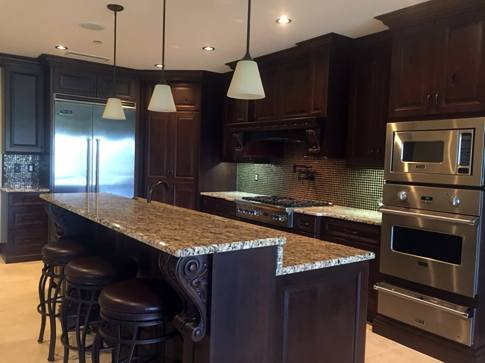 Traditional Stained Cherry Cabinets