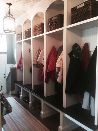 Custom Lockers with Shoe Storage