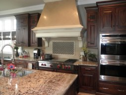 Custom hood with accent tile