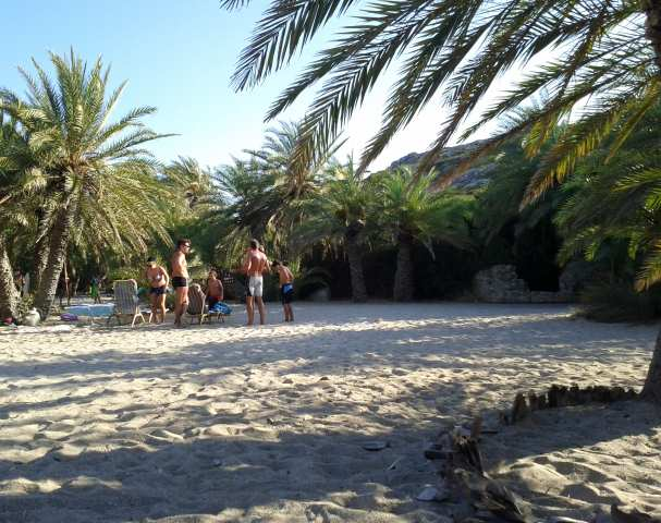 Vai beach Crete  East Lasithi  Crete  Cretamapcom