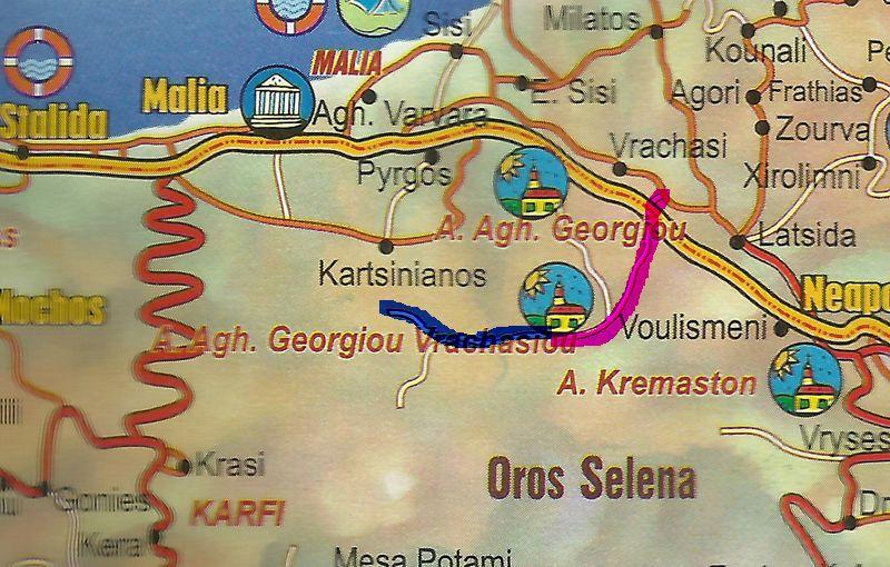 Route to Ayios Georgios Vrachasiotis