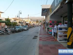 road from Malia center to sea