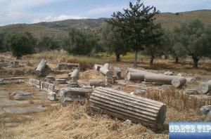 broken remains of columns