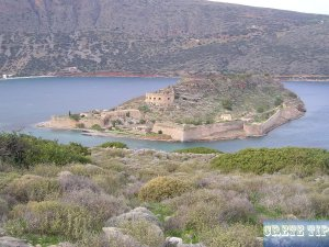 opposite of the Spinalonga fortress