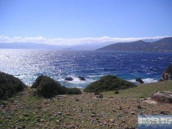 south coast of the Spinalonga peninsula