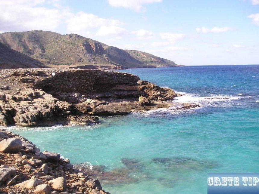 Coastal section on the Agios Ioannis peninsula.