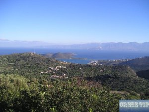 View of the Gulf of Mirabello and Elounda.