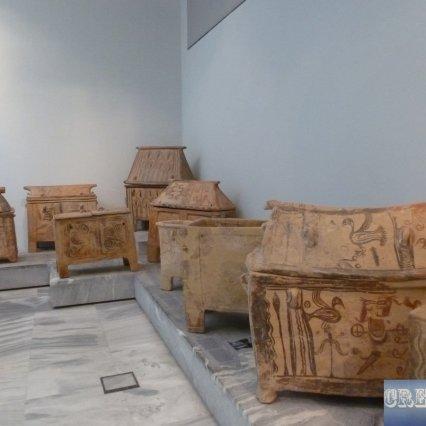 Minoan sarcophagi.