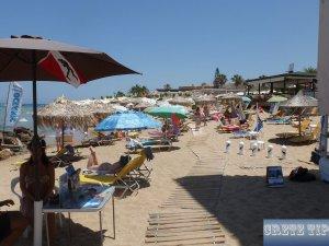 Tourism on a beach in Crete