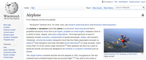 Wikipedia Interlinking Content Pages