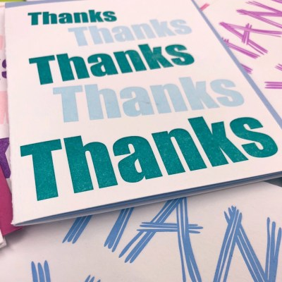 3 easy ways to show gratitude.  Letterpress thank you cards from Add Pink and Stir.