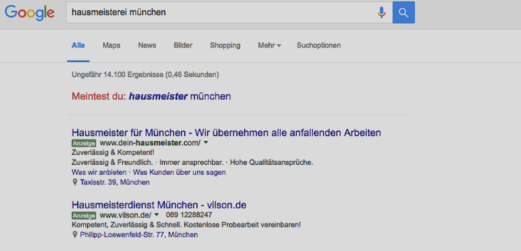 screenshot adwords