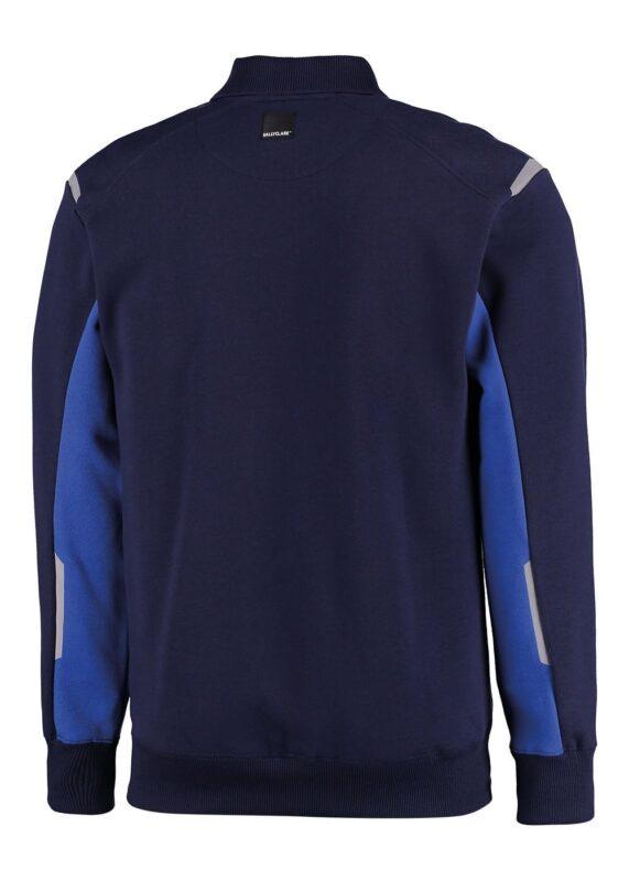 Polosweater blauw met lange mouwen