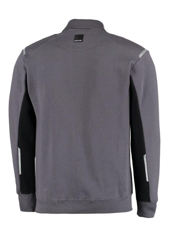 Polosweater grijs met zwart
