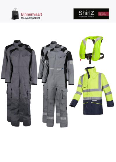 Tankvaart pakket werkkleding grijs met fluo geel