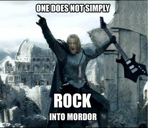 rock into mordor