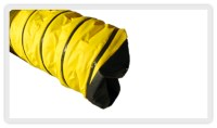 Hot air unit systems, rigid ducting, transitions and hose