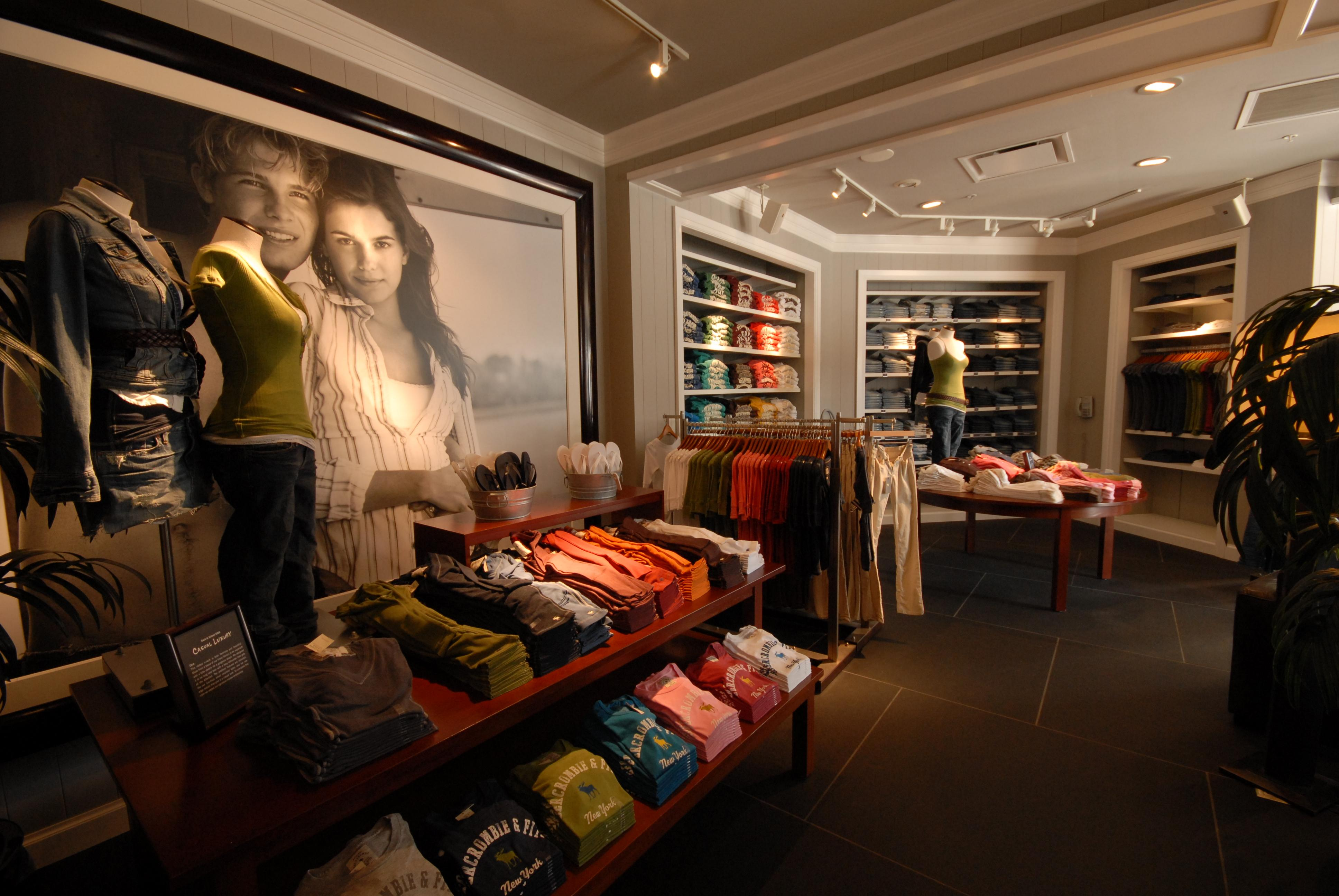 Abercrombie  Fitch  Retail Wall Panels Retail Fixtures
