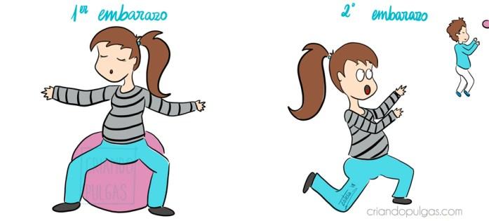 diferencias entre primer y segundo embarazo - ejercicios preparto