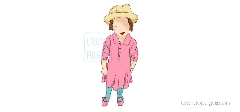 Mi hija viste de color rosa