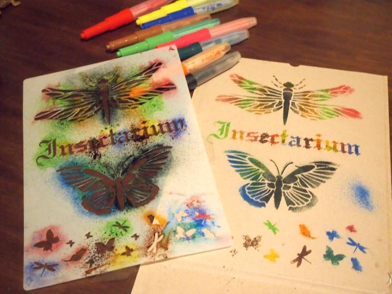 Estensils de mariposa hecho con plantilla