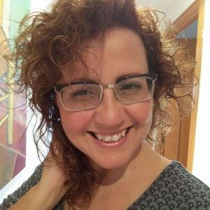 Foto de la cara de Marta sonriendo