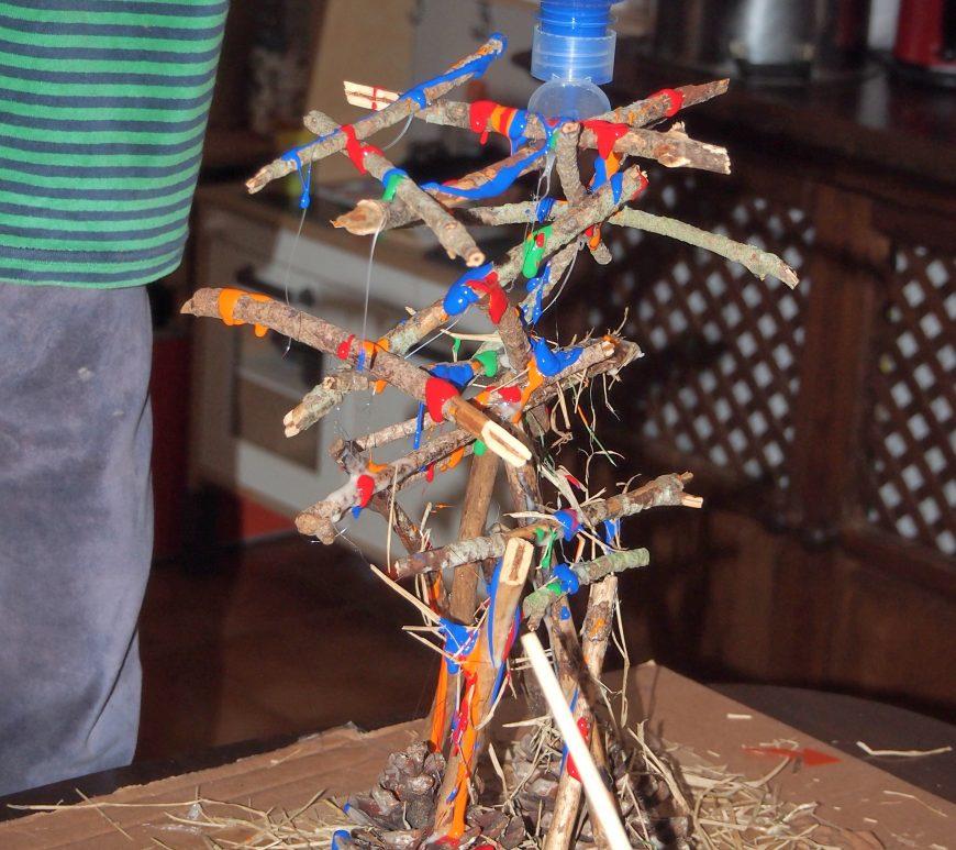 Figura de palos con forma de arbol